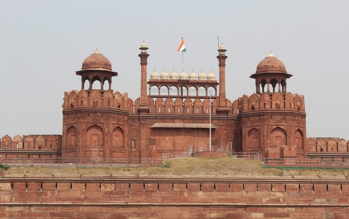 Red Fort in Delhi - Frontal View